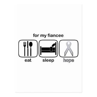 フィアンセは睡眠の希望-肺癌--を食べます ポストカード