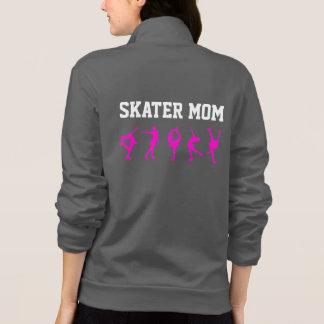 フィギュアスケートのお母さんのジャケットの名前入りな灰色