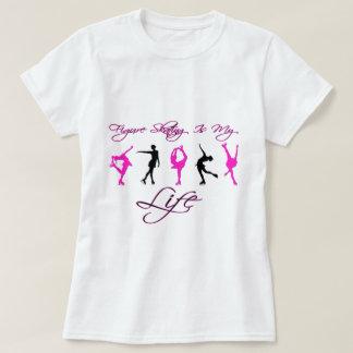 フィギュアスケートは私の人生のピンク及び黒いです Tシャツ