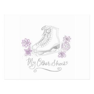 フィギュアスケート選手のための藤色のフィギュアスケートのカスタムなギフト ポストカード