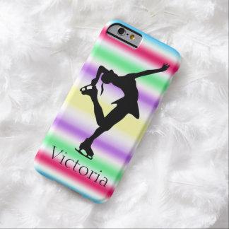 フィギュアスケート選手のカラフルでパーソナライズされたなiphone 6の箱 barely there iPhone 6 ケース
