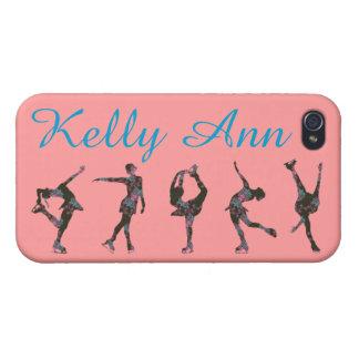フィギュアスケート選手の電話箱、パターン、名前 iPhone 4 カバー