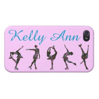 フィギュアスケート選手の電話箱、パターン、名前 iPhone 4 ケース