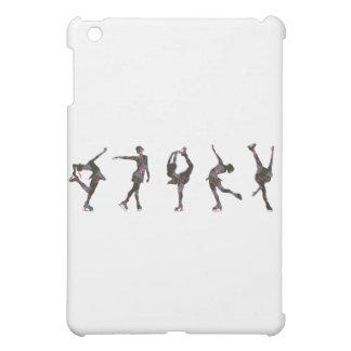 フィギュアスケート選手、ピンク、灰色パターン iPad MINIカバー