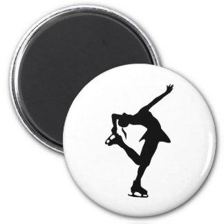 フィギュアスケート選手-黒及び白 マグネット