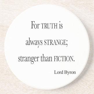 フィクションの引用文よりByron Strangerヴィンテージの主 コースター