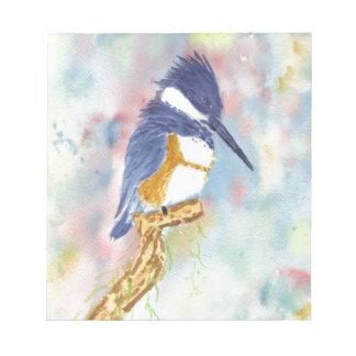 フィッシャー王、カワセミの水彩画 ノートパッド