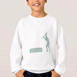 フィットネスのアスリートのそりハンマーの顕著なタイヤDrawin スウェットシャツ
