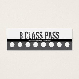 フィットネスのクラスの名刺8のクラスのパスカード スキニー名刺