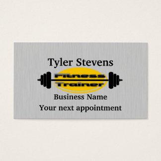 フィットネスのトレーナーのバーベルのアポイントメントカードのテンプレート 名刺