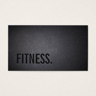 フィットネスのモダンではっきりしたな文字のエレガントで暗いプロフェッショナル 名刺