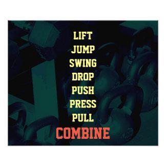 フィットネスの体育館の重量のインスピレーションのスタイルカバー アート写真