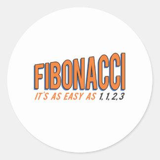 フィボナッチそれは1、1、2、3容易です ラウンドシール