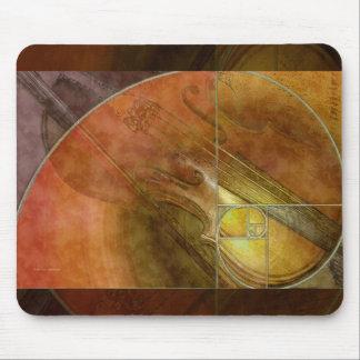 フィボナッチバイオリンの抽象芸術2 マウスパッド