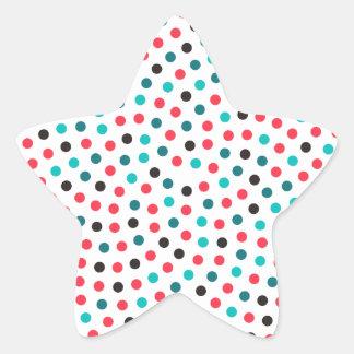 フィボナッチヒマワリの螺線形-メロン 星シール