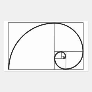 フィボナッチ比率 長方形シール