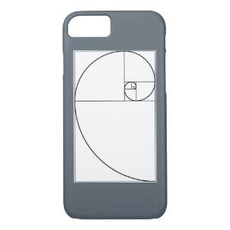 フィボナッチ螺線形の携帯電話の箱 iPhone 8/7ケース