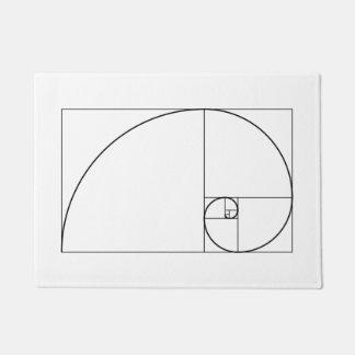 フィボナッチ螺線形の金比率 ドアマット