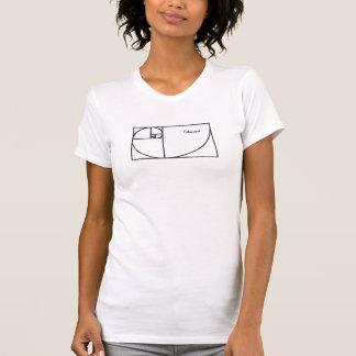 フィボナッチ螺線形 Tシャツ