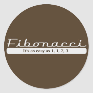 フィボナッチ… それは1、1、2、3容易です ラウンドシール