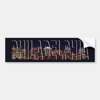 フィラデルヒィアのスカイラインのバンパーステッカー バンパーステッカー