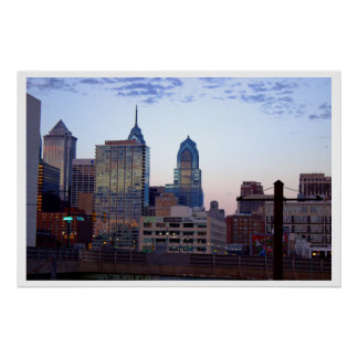 フィラデルヒィアのスカイラインの写真 ポスター