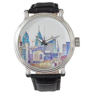 フィラデルヒィアのスカイライン色のスケッチの腕時計 腕時計