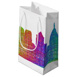 フィラデルヒィアのスカイライン スモールペーパーバッグ
