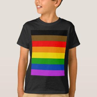 フィラデルヒィアのプライドの旗 Tシャツ