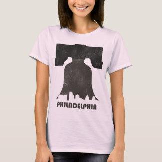 フィラデルヒィアのレトロのスカイライン女性 Tシャツ