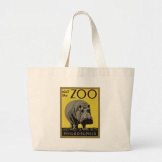 フィラデルヒィアの動物園を訪問して下さい ラージトートバッグ