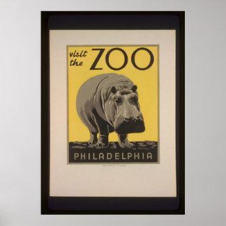 フィラデルヒィアの動物園ポスターを訪問して下さい ポスター