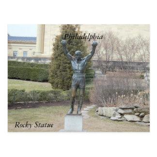 フィラデルヒィアの岩が多い彫像の郵便はがき ポストカード