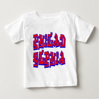 フィラデルヒィアの落書きの文字 ベビーTシャツ