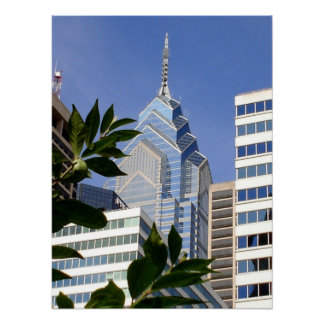 フィラデルヒィアの超高層ビル-ペンシルバニア ポスター