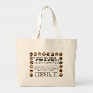 フィラデルヒィアの週間1918の星及びストライプな新聞 ラージトートバッグ
