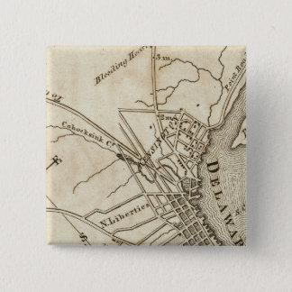 フィラデルヒィアの道路図 5.1CM 正方形バッジ