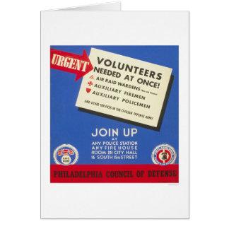 フィラデルヒィアの防衛-必要とされるボランティア- WPA カード