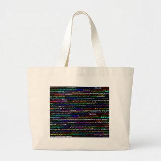フィラデルヒィアの黒い背景のバッグ ラージトートバッグ