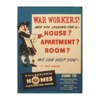 フィラデルヒィアは戦争の労働者がハウジングを見つけるのを救済できます ウッドウォールアート
