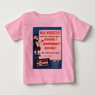 フィラデルヒィアは戦争の労働者がハウジングを見つけるのを救済できます ベビーTシャツ