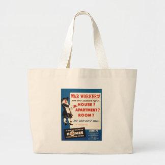 フィラデルヒィアは戦争の労働者がハウジングを見つけるのを救済できます ラージトートバッグ