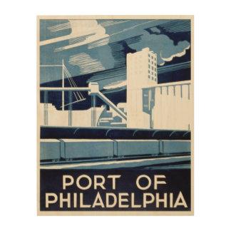 フィラデルヒィアペンシルバニアの港 ウッドウォールアート
