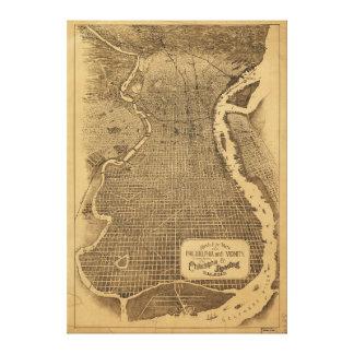 フィラデルヒィアペンシルバニア1870年の鳥瞰的な眺め キャンバスプリント
