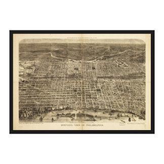 フィラデルヒィアペンシルバニア1872年の鳥瞰的な眺め キャンバスプリント