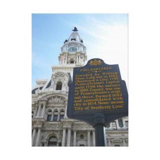 フィラデルヒィア市役所のキャンバスのプリント キャンバスプリント