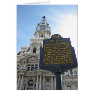 フィラデルヒィア市役所の挨拶状 カード
