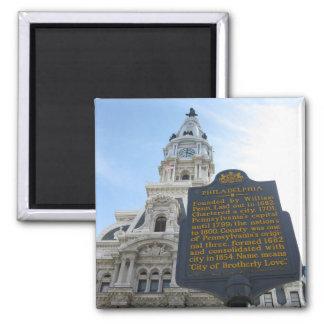 フィラデルヒィア市役所の正方形の磁石 マグネット