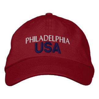 フィラデルヒィア米国の帽子 刺繍入りキャップ