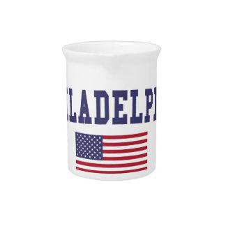 フィラデルヒィア米国の旗 ピッチャー